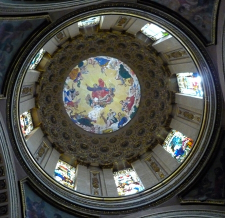 dome of church in downtown mexico city