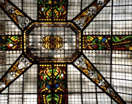 ceiling of the gran hotel ciudad de mexico
